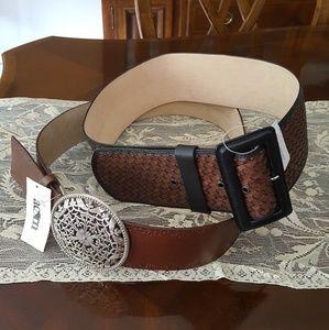 Set of 2 Genuine Leather Belts sz. M- both NWT!!